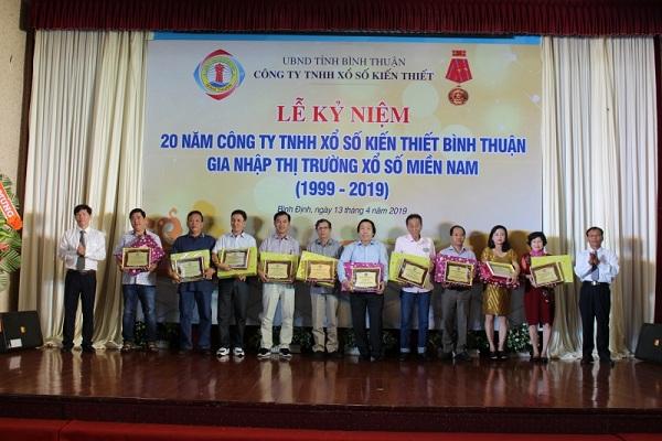 Lễ kỷ niệm 20 năm Công ty TNHH MTV Xổ số Kiến thiết Bình Thuận gia nhập thị trường xổ số kiến thiết miền Nam