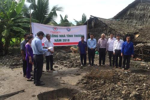 Công ty XSKT Hậu Giang khởi công nhà tình thương cho người dân nghèo huyện Vị Thủy