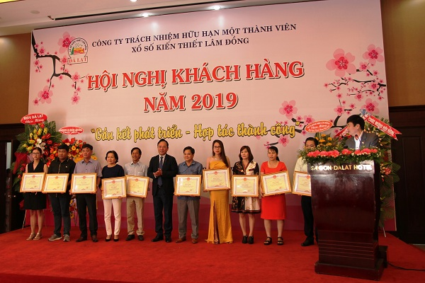 Công ty Xổ số Kiến thiết Lâm Đồng: Hội nghị khách hàng năm 2019
