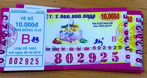 Công ty Xổ số Kiến thiết tỉnh Đồng Nai: Công bố thông tin trả thưởng, kỳ vé 10K5