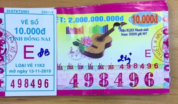 Công ty Xổ số Kiến thiết tỉnh Bình Thuận: Công bố thông tin trả thưởng kỳ vé 11k2