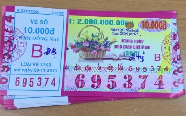 Công ty Xổ số Kiến thiết tỉnh Đồng Nai: Công bố thông tin trả thưởng, kỳ vé 11K3
