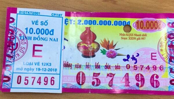 Công ty Xổ số Kiến thiết tỉnh Bình Thuận: Công bố thông tin trả thưởng kỳ vé 12K3