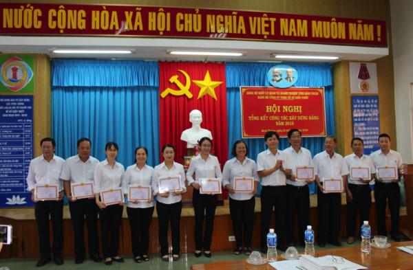 Đảng bộ Công ty TNHH Xổ số kiến thiết Bình Thuận tổ chức Hội nghị tổng kết công tác xây dựng Đảng năm 2019 và triển khai nhiệm vụ năm 2020