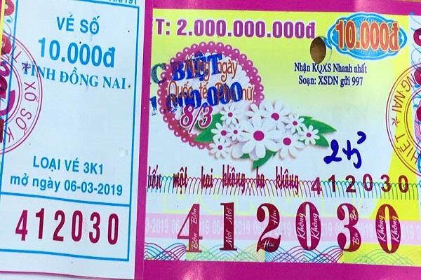 Công ty Xổ số kiến thiết tỉnh Đồng Nai: Công bố thông tin trả thưởng , kỳ vé 3K1