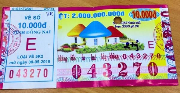 Đồng Nai: Thông tin trả thưởng kỳ vé 5K2