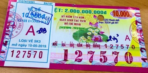 Đồng Nai: Thông tin trả thưởng kỳ vé 5K3