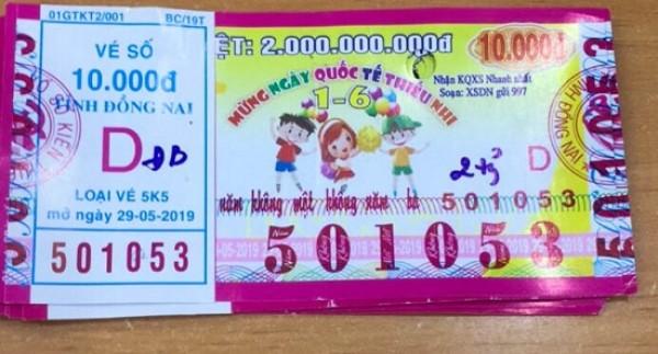 Đồng Nai: Thông báo trả thưởng kỳ vé 5K5