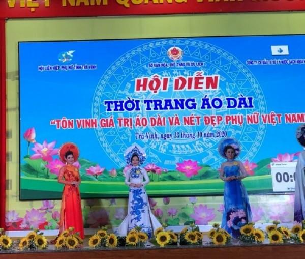 """Xổ số kiến thiết Trà Vinh: Tham gia hội diễn """"Tôn vinh giá trị áo dài và nét đẹp phụ nữ Việt Nam"""""""