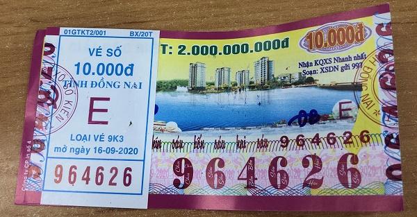 Công ty Xổ số Kiến thiết tỉnh Bình Thuận: Công bố thông tin trả thưởng kỳ vé 9K3