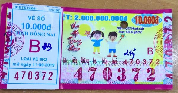 Công ty Xổ số Kiến thiết tỉnh Đồng Nai: Công bố thông tin trả thưởng, kỳ vé 9K2