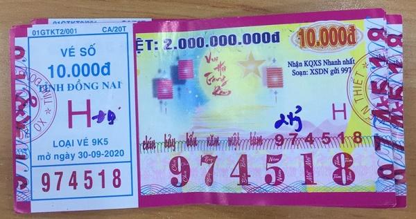 Công ty Xổ số Kiến thiết tỉnh Đồng Nai: Công bố thông tin trả thưởng kỳ vé 9K5