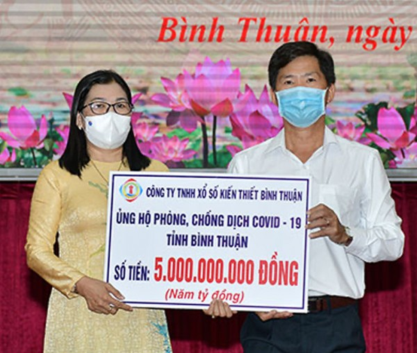 XSKT Bình Thuận ủng hộ 5 tỷ đồng cho công tác phòng chống dịch Covid–19
