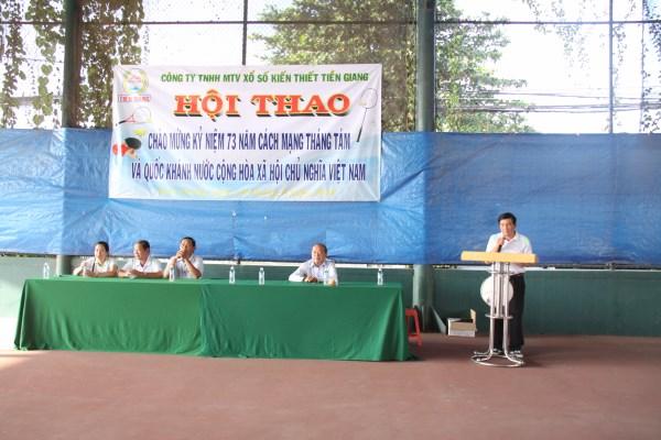 Công ty XSKT Tiền Giang: Tổ chức Hội thao chào mừng Quốc khánh