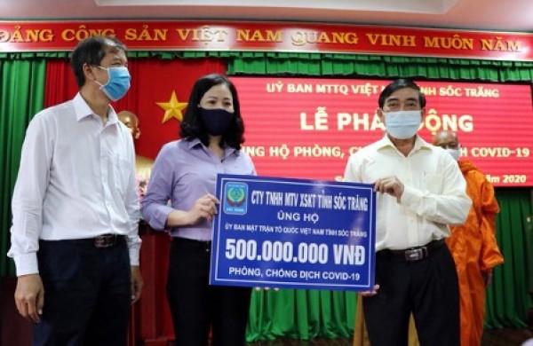 Sóc Trăng chi 3,2 tỉ đồng ủng hộ người bán vé số, phòng chống dịch COVID-19