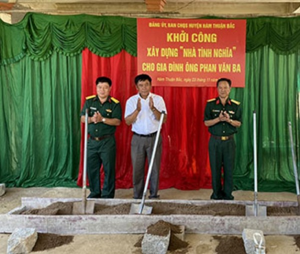 Công ty Xổ số Kiến thiết Bình Thuận: Khởi công xây dựng nhà tình nghĩa cho cựu chiến binh