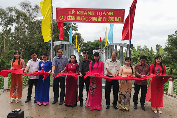 Lễ Khánh thành cầu Kênh Mương Chùa tại huyện Gò Quao