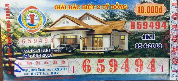 Công ty xổ số kiến thiết Bình Thuận: Công bố thông tin trúng thưởng