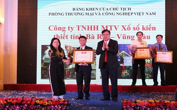 Công ty Xổ số kiến thiết tỉnh Bà Rịa - Vũng Tàu nhận Giải thưởng Ngọn hải đăng năm 2017