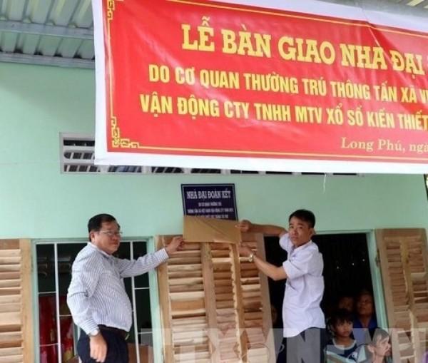 Công ty Xổ số Sóc Trăng trao nhà Đại đoàn kết cho nạn nhân chất độc da cam/dioxin tại Sóc Trăng
