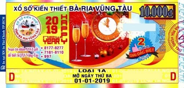 Công ty Xổ số kiến thiết tỉnh Bà Rịa - Vũng Tàu: Công bố thông tin trả thưởng - Kỳ vé 1A