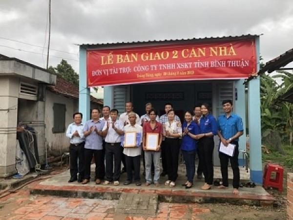 XSKT Bình Thuận: Trao 4 căn nhà tình thương cho hộ nghèo tại tỉnh Bến Tre và tỉnh Tây Ninh