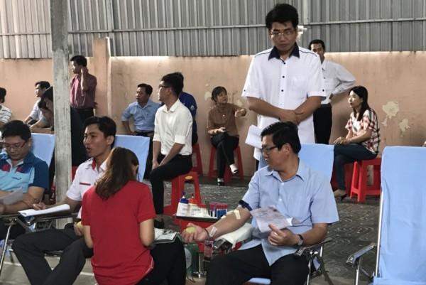 Công ty XSKT Trà Vinh: Tham gia hiến máu nhân đạo