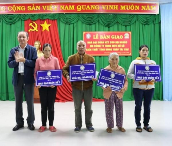 Xổ số kiến thiết Đồng Tháp: Lễ bàn giao Nhà Đại Đoàn Kết tại Huyện Đơn Dương, Tỉnh Lâm Đồng