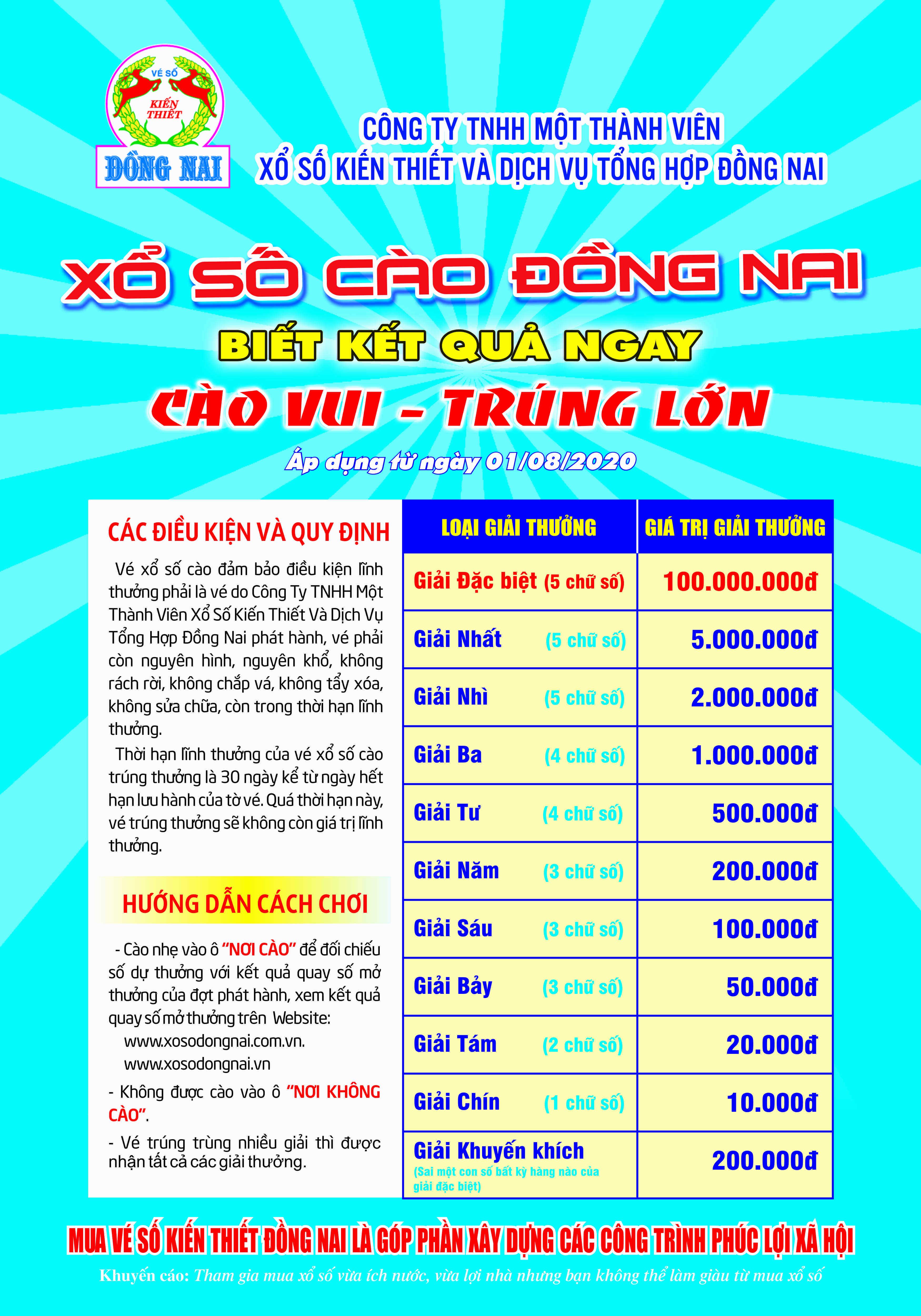 xổ số cào Đồng Nai